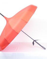 Plain Red Pargoda Parasol Brolly.