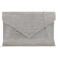 Silver Sparkle Patent Clutchbag