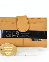 Tan Genuine Leather RFID Scan Proof Purse