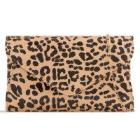 Animal Print Patent Clutch Bag