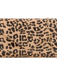 Animal Print Patent Clutch Bag
