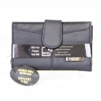 Black Genuine Leather RFID Scan Proof Purse Medium