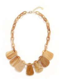 Brown Fan Chain Necklace