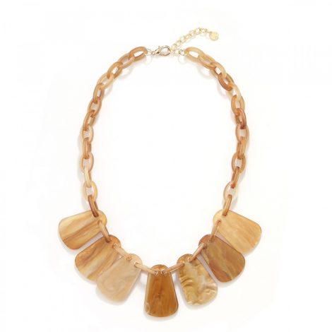 Brown Fan Chain Necklace