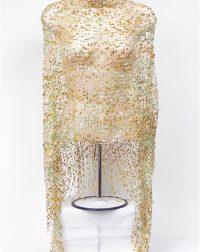 Goldy Green Shiny Lace Poncho