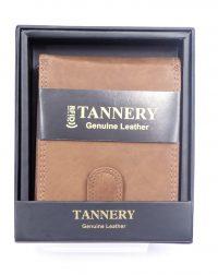 Mid Tan Leather RFID Wallet.