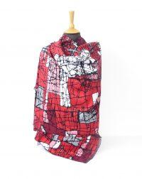 Reds White and Black Pure Cashmere Pashmina Style Shawl