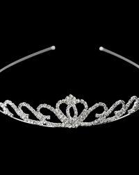 Silver Cear Diamante Tiara