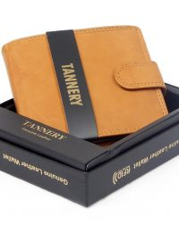 Tan Leather RFID Wallet