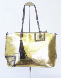 Gold Metallic Tassel Handbag