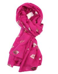 Fuschia Rose Kiss Scarf