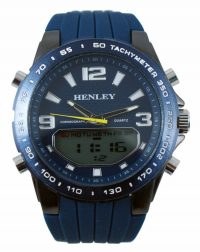 Gents Henley Navy Silicon Watch