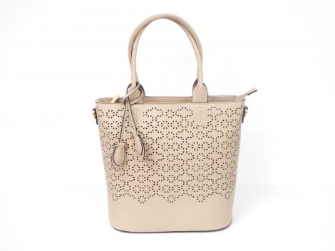 Khaki Filigree Shopper Handbag