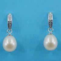925 Silver Freshwater Pearl Drop Earrings