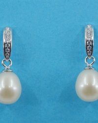 925 Silver Freshwater Pearl Drop Earrings