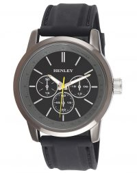 Gents Henley Black Silicon Strap Watch