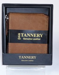 Tan Leather RFID Wallet EB-54