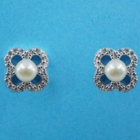 925 Silver and Freshwater Pearl Stud Earrings