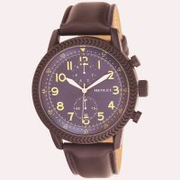 Brown Henleys Textured Sports Watch