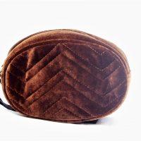 Brown Velvet Bum Bag