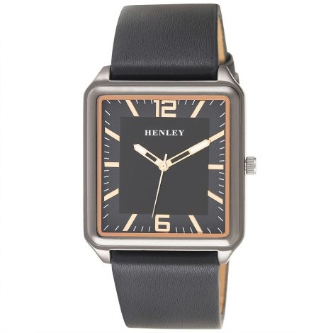 Gents Henley Black Square Watch