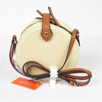 Off White Woven Ratan Bag