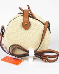 Off White Woven Ratan Bag