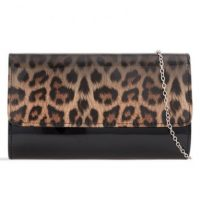 Animal Print Patent Clutch