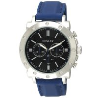 Henley Screw Case Silicon Watch - Blue