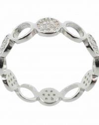 925 Silver CZ Circles Ring
