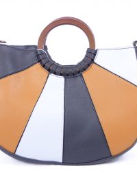 Black, Grey Mustard Handbag