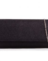 Black Sparkle Textured Clutch