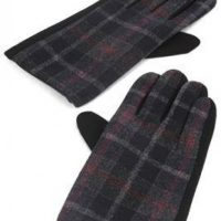 Black Douglas Tartan Gloves