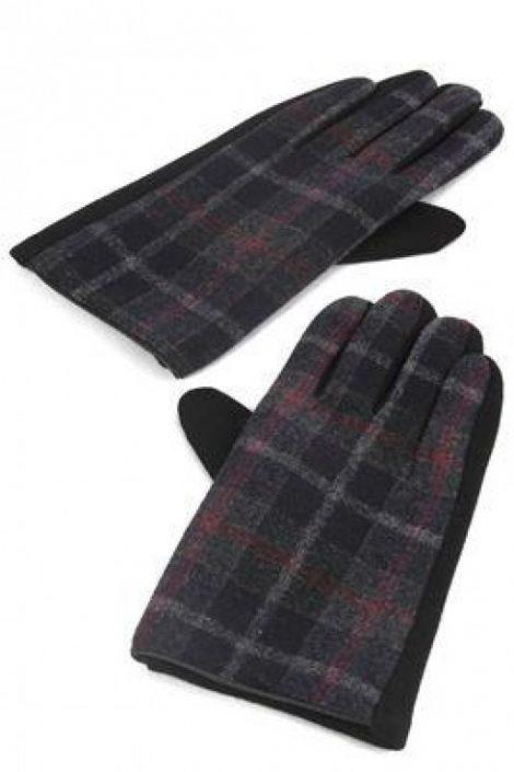 Black Douglas Tartan Gloves