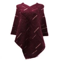 Burgendy Fluffy Supersoft Poncho