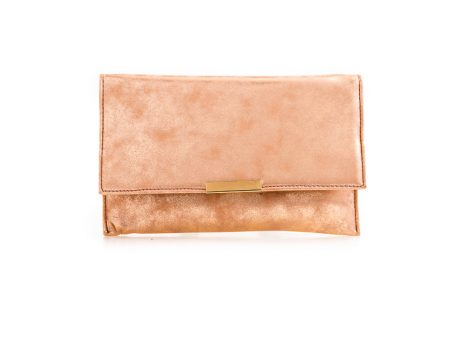 Champagne Metallic Clutch Bag