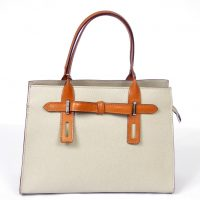 Light Taupe Leather Handbag