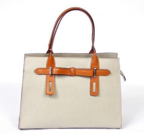 Light Taupe Leather Handbag