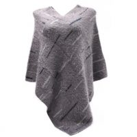 Grey Fluffy Supersoft Poncho
