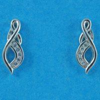 925 Silver Stud Drop Earrings