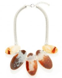 Flat Stone Pebble Necklace