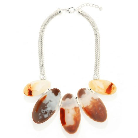 Flat Stone Pebble Necklace