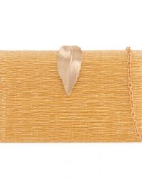 Gold Leaf Clutch Bag