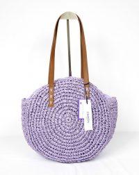 Lilac Rattan Handbag
