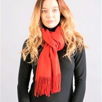 Orange Cashmere Pashmina
