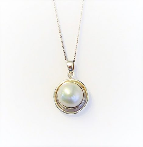925 Silver Large Pearl Necklace