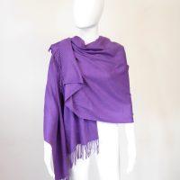 Purple Cashmere Pashmina 1