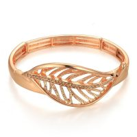 Rose Gold Leaf Bracelet