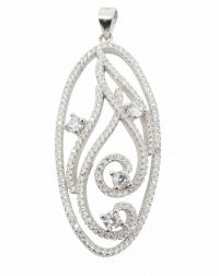 925 Silver CZ Necklace