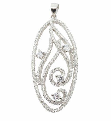 925 Silver CZ Necklace
